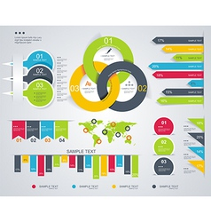 Diagram and Time Line design vector image vector image