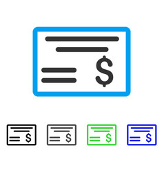 dollar cheque flat icon vector image