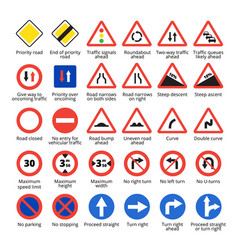 european traffic signs vector image