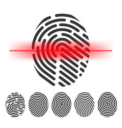 Finger print scanning clipart vector