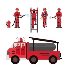 Firefighter decorative icons set vector