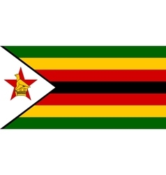 Flag of Zimbabwe correct size and colors vector image