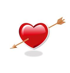 Heart and arrow vector