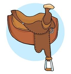 Horse Saddle vector image