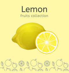 lemon image vector image