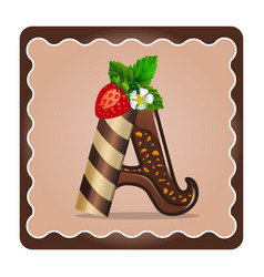 Letter a candies chocolate vector