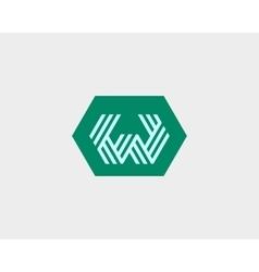 Letter W logo icon design Creative line vector image vector image