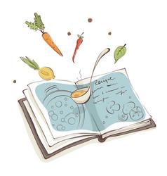 Magic cookbook vector