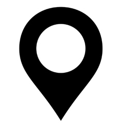Map marker flat black color icon vector