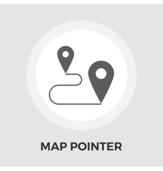 Map pin flat icon vector