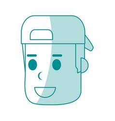 Monocromatic man with hat design vector