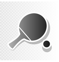 Ping pong paddle with ball new year vector