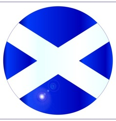 Scotish Flag Button vector image vector image