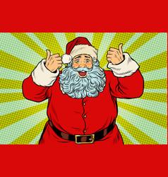 thumb up happy santa claus vector image