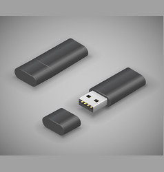 usb stick flash drive vector image vector image