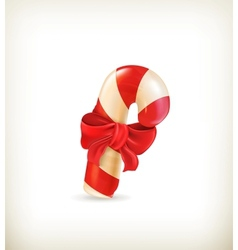 Christmas candy with bow vector