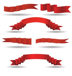 Set of red banners vector