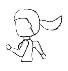 Woman running cartoon vector