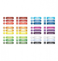 rainbow web buttons vector image