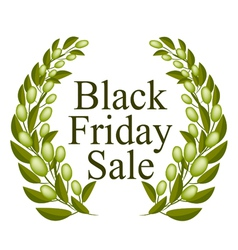 A beautiful olive wreath for black friday sale vector