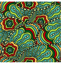 Seamless doodle paisley pattern vector