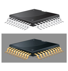 Computer chip vector