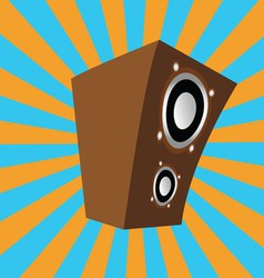 Cartoon style speaker vector