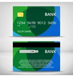 Templates of credit cards design vector