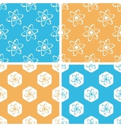 Atom pattern set colored vector