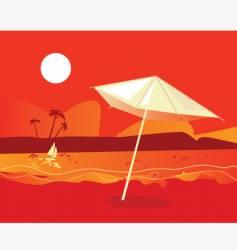 tropical beach sunset vector image