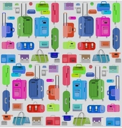 Travel bags  luggage suitcase vector