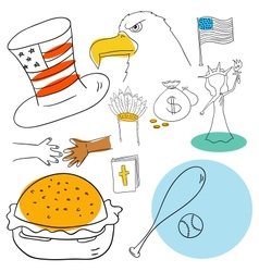 American collection vector image