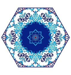 Antique ottoman turkish pattern design eighty four vector