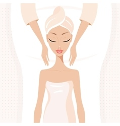 Beautiful young woman relaxing at spa salon Face vector image vector image