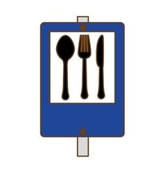 Blue signal restaurant near icon design vector