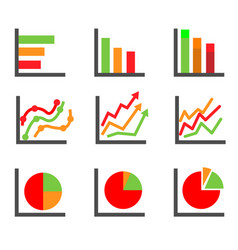 Business data elements and charts vector