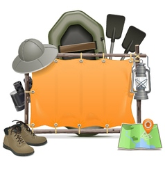 Camping frame vector