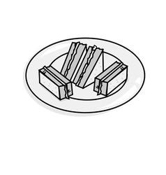 Cheese sandwich vector