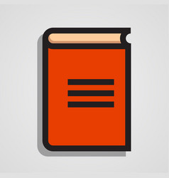 clean and simple orange book vector image vector image
