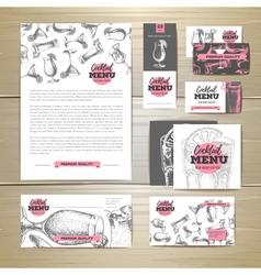 Cocktail menu design document template vector image vector image