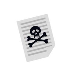 Dangerous sheet paper vector