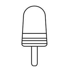 delicious popsicle sweet icon vector image vector image
