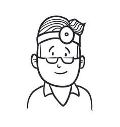 Doctor draw cartoon vector
