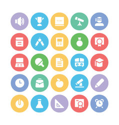 Education bold icons 1 vector