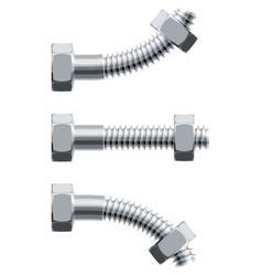 Erection bolt vector image