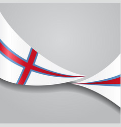 Faroe islands wavy flag vector