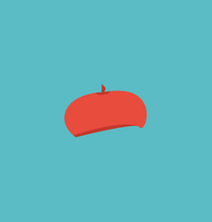 flat icon beret element of vector image vector image