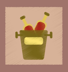 Flat shading style icon bottle bucket vector