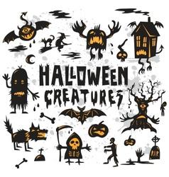 Halloween Creatures Set vector image