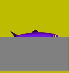 In flat style herring vector